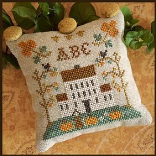 Little House Needleworks - ABC Samplers - ABC-Little House Needleworks - ABC Samplers, ABC, home, pincushions, pillows, samplers, primitive, cross stitch