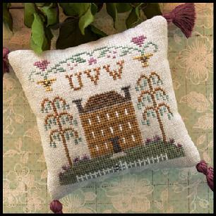 Little House Needleworks - ABC Samplers - UVW-Little House Needleworks - ABC Samplers - UVW, samplers, alphabet, house, cottage, willow tree, cross stitch