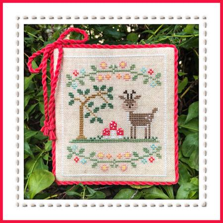 Country Cottage Needleworks - Welcome to the Forest - Part 2 - Forest Deer-Country Cottage Needleworks - Welcome to the Forest - Part 2 - Forest Deer , animals, trees, nature, cross stitch