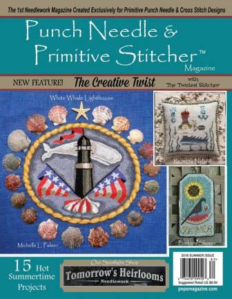 Punch Needle & Primitive Stitcher Magazine 2018 - Issue # 2 - Summer-Punch Needle  Primitive Stitcher Magazine 2018 - Issue  2 - Summer, punch needle, cross stitch, crafts,