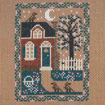 Prairie Schooler - Spring Cottage-Prairie Schooler - Spring Cottage, home, flowers, birds, cross stitch