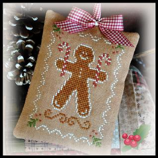 Little House Needleworks - Ornament of the Month 2012 - No. 10 - Gingerbread Cookie - Cross Stitch Pattern
