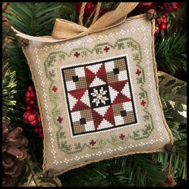 Little House Needleworks - Farmhouse Christmas - Part 5 - Grandma's Quilt-Little House Needleworks - Farmhouse Christmas - Part 5 - Grandmas Quilt, quilting, sewings, country, farm, crafts, cross stitch