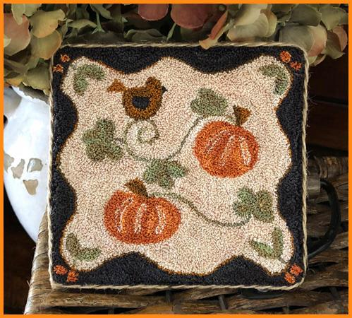 Little House Needleworks - Country Pumpkins - Punch Needle-Little House Needleworks - Country Pumpkins - Punch Needle, fall, harvest,