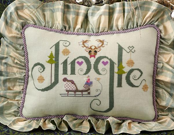 Cross-Eyed Cricket - Jingle-Cross-Eyed Cricket - Jingle, Christmas, jingle bells, reindeer, Cross Stitch Pattern