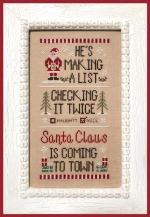 Country Cottage Needleworks - Santa's List-Country Cottage Needleworks - Santas List, Christmas, Santa Claus, cross stitch, naughty or nice, children, gifts,