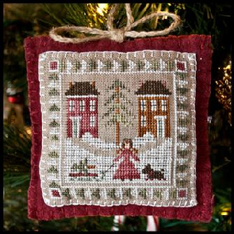 Little House Needleworks - Ornament of the Month 2011 - Bringing Home the Tree-Little House Needleworks - Ornament of the Month 2011 - Bringing Home the Tree - Cross Stitch Pattern