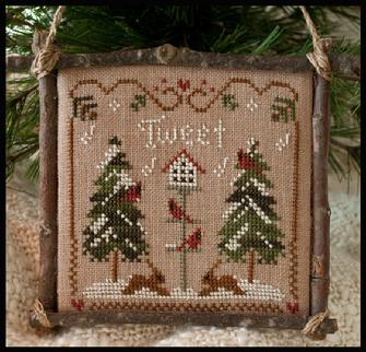 Little House Needleworks - Ornament of the Month 2011 - Cardinal Winter