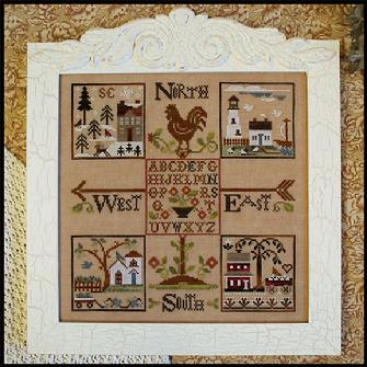 Little House Needleworks - Four Corners - Part 1 - The Weathervane - Thread Pack Series-Little House Needleworks - Four Corners - Part 1 The Weathervane - Thread Pack Series