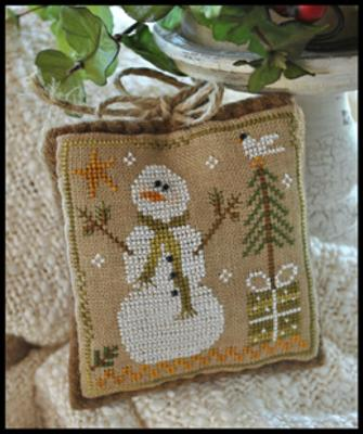 Little House Needleworks - Ornament of the Month 2010 - Frosty Flakes-Little House Needleworks, Ornament of the Month 2010, Frosty Flakes cross stitch pattern with instructions, Christmas tree ornament,