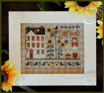 Little House Needleworks - Little Miss Sunflower - Cross Stitch Pattern
