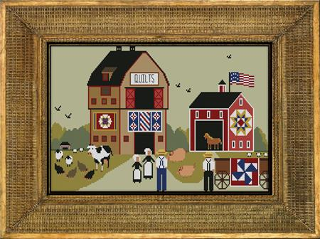 Twin Peak Primitives - Teresa's Farm-Twin Peak Primitives - Teresas Farm - farm, quilts, animals, cross stitch