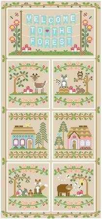 Country Cottage Needleworks - Welcome To The Forest - Part 7 - Forest Bear-Country Cottage Needleworks - Welcome To The Forest - Part 7 - Forest Bear