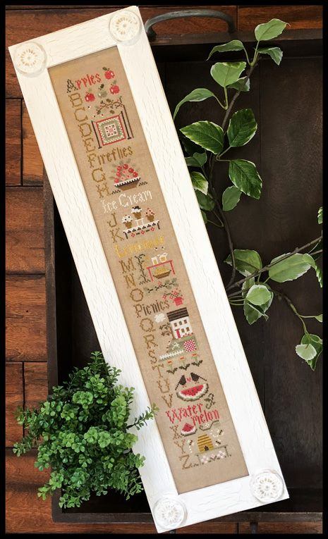 Little House Needleworks - Summer ABC's-Little House Needleworks - Summer ABCs, sunshine, ocean, watermelon, family, picnics, cross stitch