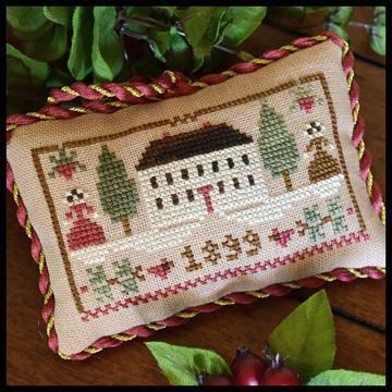 Little House Needleworks - The Sampler Tree - Part 11 - Christmas in the Country-Little House Needleworks - The Sampler Tree - Part 11 - Christmas in the Country, house, Christmas,