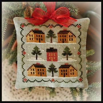 Little House Needleworks - Ornament of the Month 2012 - No.12 - Saltbox Village - Cross Stitch Pattern