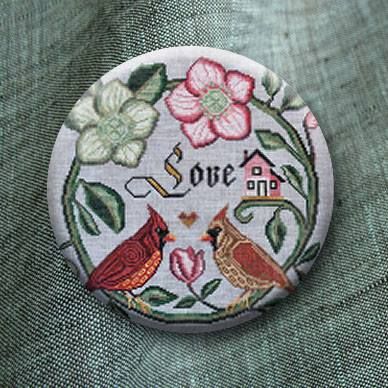 Stitch Dots - Songbird's Garden - Forever & Ever Needle Nanny by Cottage Garden Samplings-Stitch Dots - Songbirds Garden - Forever  Ever Needle Nanny by Cottage Garden Samplings