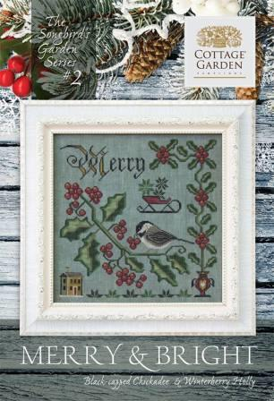 Cottage Garden Samplings - Songbird's Garden Part 2 - Merry & Bright-Cottage Garden Samplings - Songbirds Garden Part 2 - Merry  Bright, Christmas, birds, holly, cross stitch