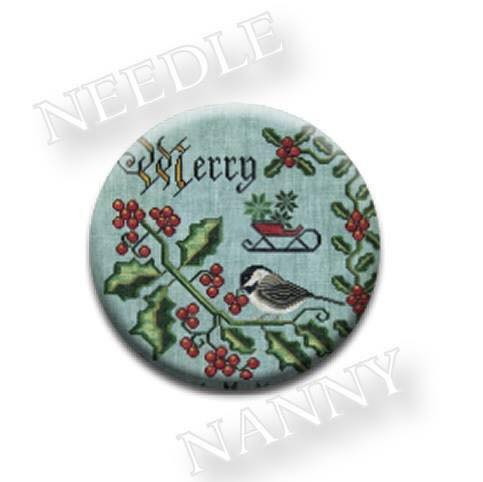 Stitch Dots - Songbird's Garden - Merry & Bright Needle Nanny by Cottage Garden Samplings-Stitch Dots - Songbirds Garden - Merry  Bright Needle Nanny by Cottage Garden Samplings