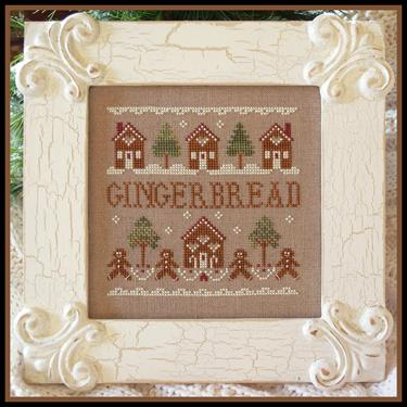Little House Needleworks - Gingerbread Street-Little House Needleworks - Gingerbread Street, gingerbread man, cookies, home, houses, Christmas, cross stitch, ornaments,