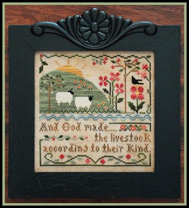 Little House Needleworks - These Are My Sheep - Part 3 - Sixth Day of Creation-Little House Needleworks - These Are My Sheep - Part 3 - Sixth Day of Creation , God, creation, earth, animals,