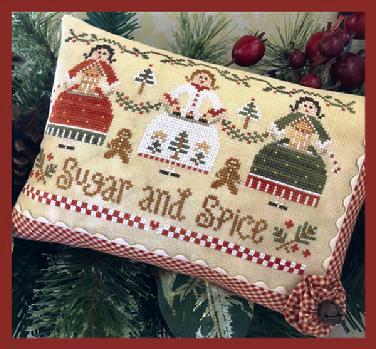 Little House Needleworks - Sugar and Spice-Little House Needleworks - Sugar and Spice , Christmas, sugarplums, cross stitch