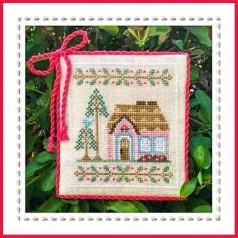Country Cottage Needleworks - Welcome To The Forest - Part 5 - Pink Forest Cottage-Country Cottage Needleworks - Welcome To The Forest - Part 5 - Pink Forest Cottage, animals, trees,