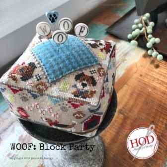 Hands On Design - Block Party - Woof-Hands On Design - Block Party - Woof, dogs, pin cushion, dog bone