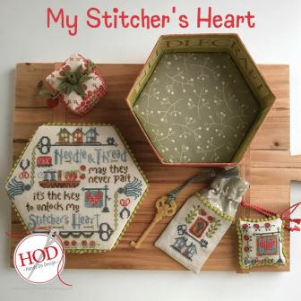 Hands On Design - My Stitching Heart-Hands On Design - My Stitching Heart, sewing box, tools, pin cushion, cross stitch