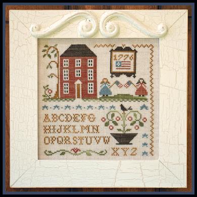 Little House Needleworks - Oh My Stars!-Little House Needleworks - Oh My Stars, American flag, patriotic, home, 1776, sampler, cross stitch