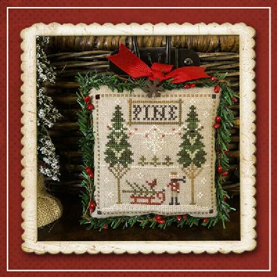 Little House Needleworks - Jack Frost's Tree Farm - Part 6 Fresh Pines-Little House Needleworks - Jack Frosts Tree Farm - Part 6 Fresh Pines, Christmas trees, ornaments, cross stitch