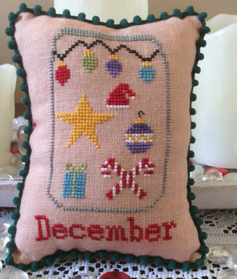 Needle Bling Designs - What's in Your Jar - Part 12 - December-Needle Bling Designs - Whats in Your Jar - December, Christmas, mason jars, peppermint candy, gifts, cross stitch