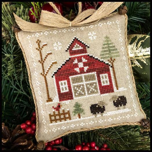 Little House Needleworks - Farmhouse Christmas - Part 9 - Baa Baa Black Sheep-Little House Needleworks - Farmhouse Christmas - Part 9 - Baa Baa Black Sheep, farm, animals, cross stitch