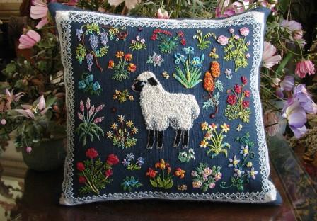 The Tapis-Tree - Ewe in a Meadow Kit-The Tapis-Tree - Ewe in a Meadow Kit, sheep, crewel, embroidery, needlework, cross stitch,