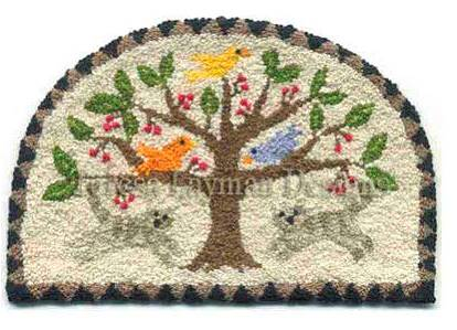 Teresa Layman Designs - Kitty Frolic - Miniature Knotwork Kit-Teresa Layman Designs - Kitty Frolic - Miniature Knotwork Kit, cats, playing. tree, birds. french knots