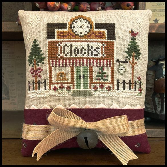 Little House Needleworks - Hometown Holiday - Clockmaker-Little House Needleworks - Hometown Holiday - Clockmaker, village, Christmas, clock repair, cross stitch