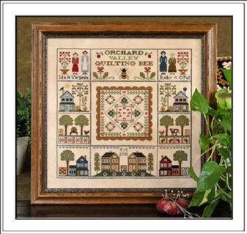 Little House Needleworks - Orchard Valley Quilting Bee-Little House Needleworks, Orchard Valley Quilting Bee, Cross Stitch Pattern