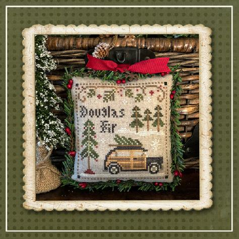 Little House Needleworks - Jack Frost's Tree Farm - Part 2 Douglas Fir-Little House Needleworks - Jack Frosts Tree Farm - Part 2 Douglas Fir, Christmas Trees, tree lot, truck, Christmas, cross stitch