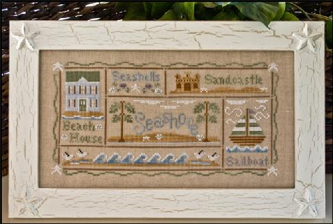 Country Cottage Needleworks - A Day at the Beach-Country Cottage Needleworks - A Day at the Beach, OCEAN, HOUSES, COTTAGES, CROSS STITCH