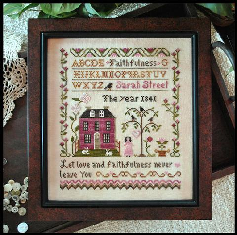 Little House Needleworks - Sarah Street  Faithfulness-Little House Needleworks - Sarah Street  Faithfulness, faith, God, trust, hope, spiritual, prayers, sampler