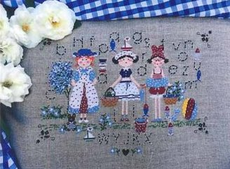 Lilli Violette - Giorni di Mare-Lilli Violette - Giorni di Mare, sampler, summer, girls, playing, cross stitch