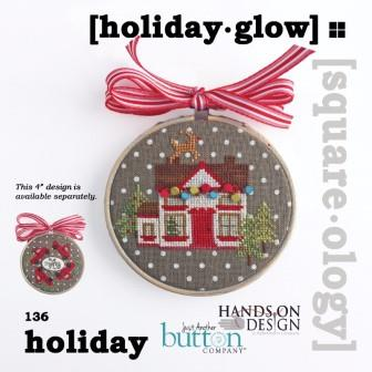 Hands On Design & Just Another Button Company - Square.ology - Holiday Glow-Hands On Design  Just Another Button Company - Square.ology - Holiday Glow,  Christmas, ornaments, home, Christmas lights, cross stitch