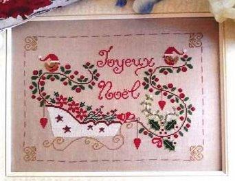 Cuore e Batticuore - Natale In Slitta-Cuore e Batticuore - Natale In Slitta, Christmas, sleigh, robins, cross stitch, ivy,