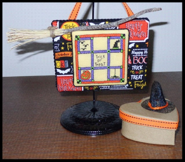 Faithwurks Designs - Halloween Quilt Petite Hatbox Collection # 1-Faithwurks Designs - Halloween Quilt Petite Hatbox Collection  1,