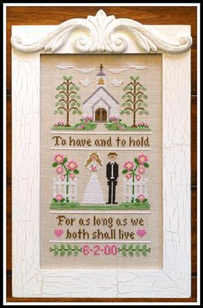 Country Cottage Needleworks - To Have and To Hold-Country Cottage Needleworks,To Have and To Hold, wedding announcement, bride  groom, june bride, marriage, love, marriage ceremony,