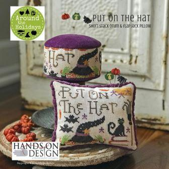 Hands On Design - Around the Holidays - Put on the Hat-Hands On Design - Around the Holidays - Put on the Hat, Halloween, fall, witch, black cat, bats, pumpkins, cross stitch