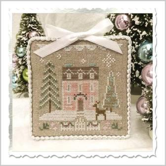 Country Cottage Needleworks - Glitter Village - Glitter House 4-Country Cottage Needleworks - Glitter Village - Glitter House 4, houses, Christmas, pastels, winter, cross stitch