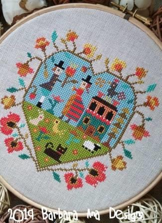 Barbara Ana Designs - Spring Heart-Barbara Ana Designs - Spring Heart , love, man, woman,  Valentines Day, home, flowers, cross stitch