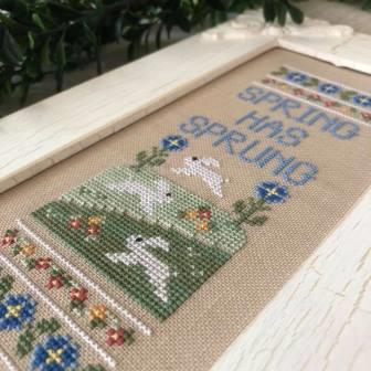 Country Cottage Needleworks - Spring Has Sprung-Country Cottage Needleworks - Spring Has Sprung, rabbits, bunnies, Spring, Easter, flowers, cross stitch