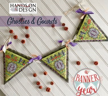 Hands On Design - A Banner Year - Ghosties & Gourds-Hands On Design - A Banner Year - Ghosties  Gourds, Halloween, pumpkins, scary, trick or treat, decorating, fall, cross stitch